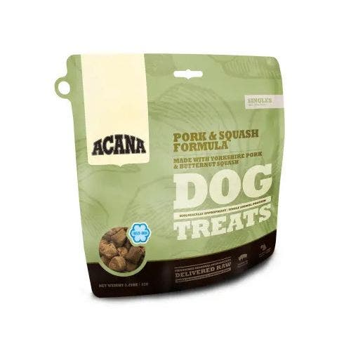 Acana freeze dried 3.25oz pork squash dog treats
