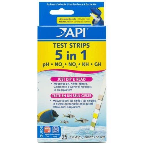 API 5 in 1 Aquarium Test Strips - 25 Count