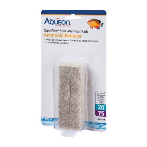 Aqueon ammonia mini pad quiet flow 20/75 fish