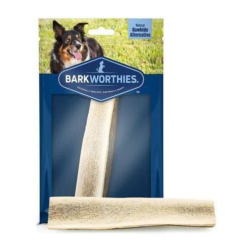 Barkworthies medium split elk antler dog