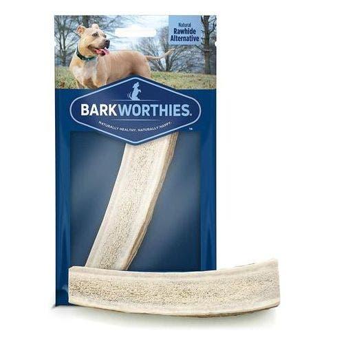 Barkworthies puppy split elk antler dog