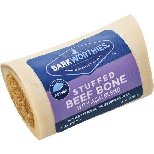 Barkworthies shin bone 4 inch with acai blend dog
