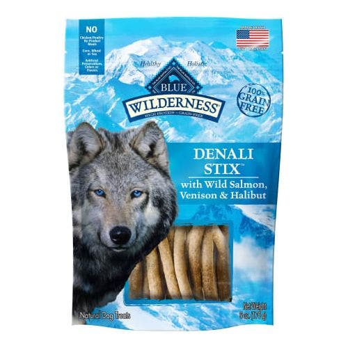 Blue Buffalo Blu Wilderness 6oz Denali Stix Dog Treats