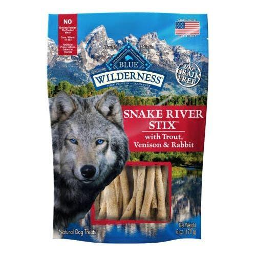 Blue Buffalo Blu Wilderness 6oz Snake River Stix Dog Treats
