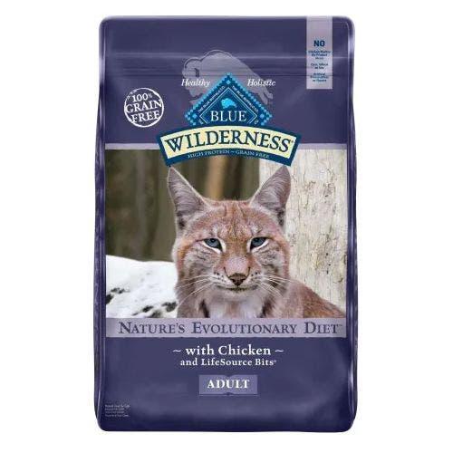 Blue Buffalo Blu Cat 12lb Wilderness Chicken Cat Food