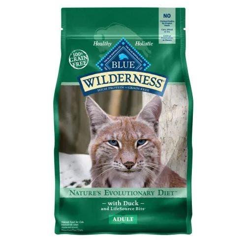 Blue Buffalo Blu Cat 5lb Wilderness Duck Cat Food