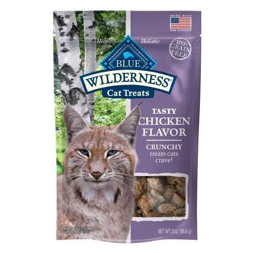 Blue Buffalo Cat 2oz Crunchy Chicken Treat Cat Treats