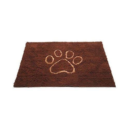 Dirty Dog doormat large mocha brown dog