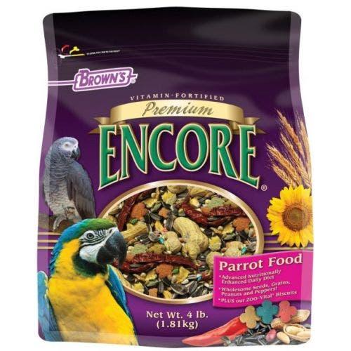 F.M. Brown's premium 2lb parakeet food bird