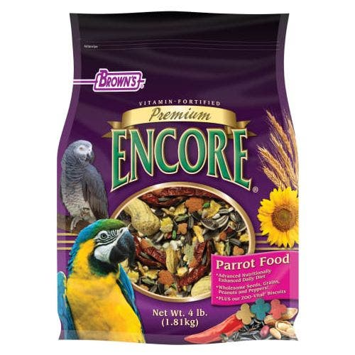 F.M. Brown's premium 4lb parrot food bird