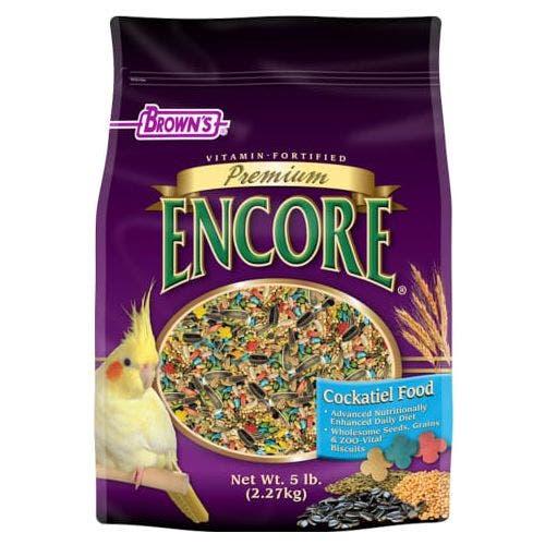 F.M. Brown's premium 5lb cockatiel food bird