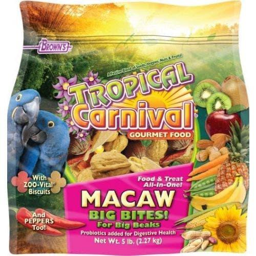 F.M. Brown's tropical carnival 5lb macaw big bites bird