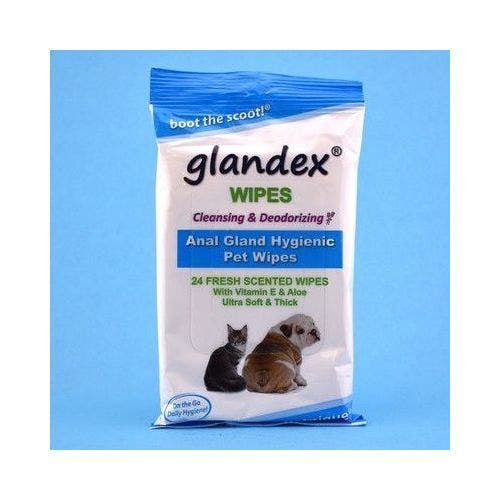 Glandex fresh scented 24 count wipes dog