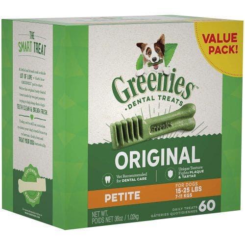 Greenies Petite Dental Chews 36oz Tub