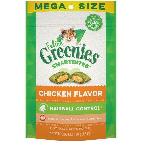 Greenies Feline 4.6oz Hairball Treats - Chicken