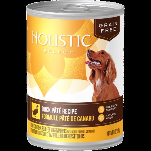 Holistic Select 13oz Grain Free Duck Pate Dog Food