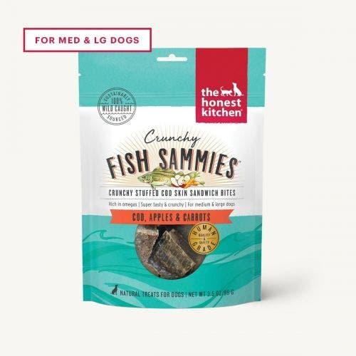 Honest Kitchen Crunchy Fish Sammies- Cod/Apple/Carrot