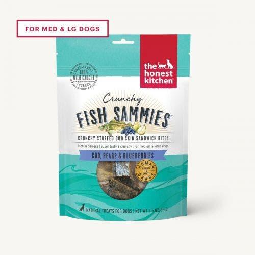 Honest Kitchen Crunchy Fish Sammies- Cod/Pear/Blueberry