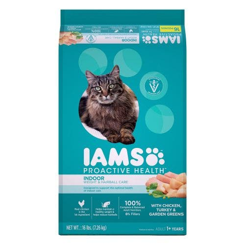 Iams Cat 16lb Weight and Hairball Cat Food
