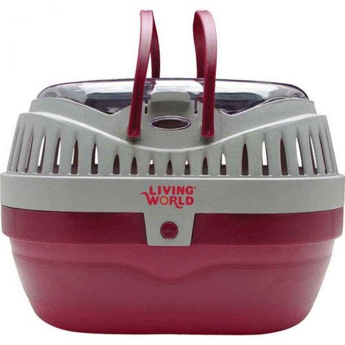 Living World carrier large red grey