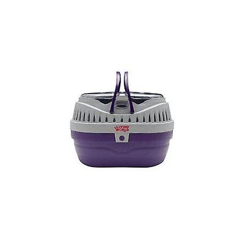 Living World carrier small purple grey