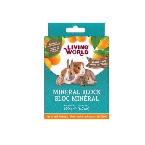 Living World small animal mineral orange block 6.7oz