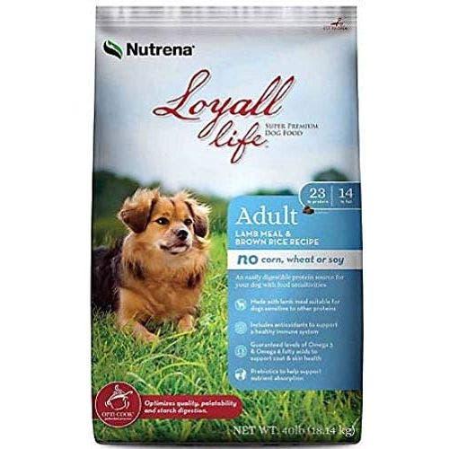 Loyall Life 40lb grain free lamb and brown rice dog food
