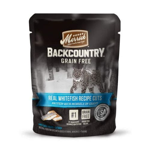 Merrick backcountry cat 3oz pouch whitefish