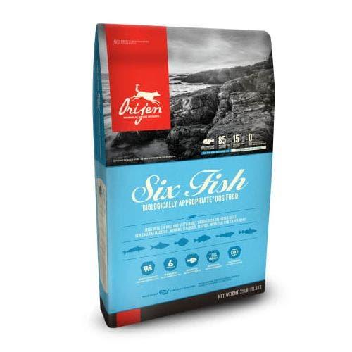 Orijen six fish 25lb dog food