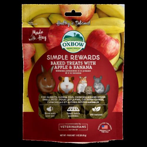 Oxbow simple rewards 3oz apple banana treats small animal