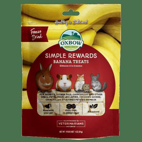 Oxbow simple rewards 1oz banana treats small animal
