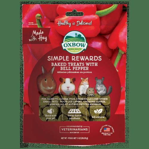 Oxbow simple rewards 3oz bell pepper treats small animal