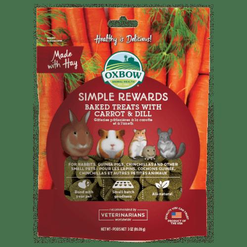Oxbow simple rewards 3oz carrot dill treats small animal