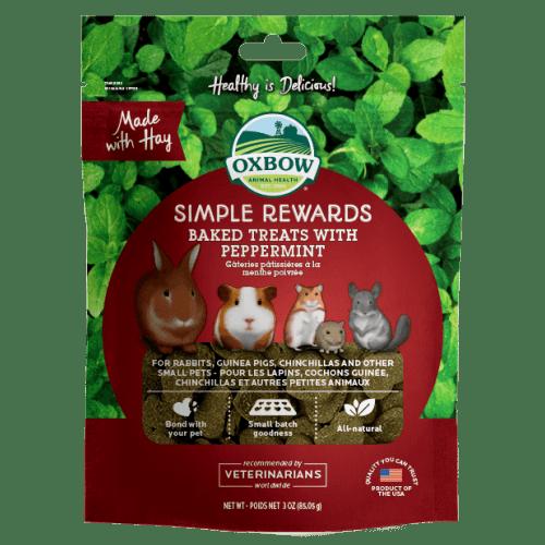 Oxbow simple rewards 3oz peppermint treats small animal