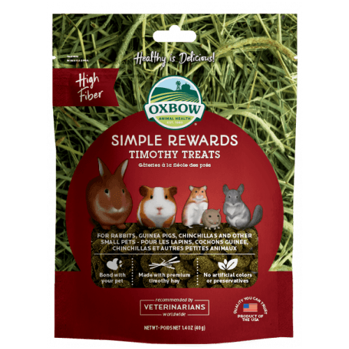 Oxbow simple rewards 1.4oz timothy treats small animal