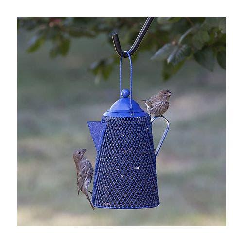 Perky pet coffee pot feeder bird