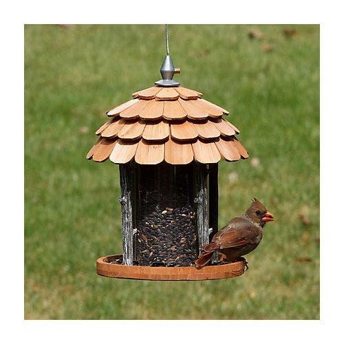 Perky pet gazebo wood feeder bird