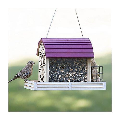 Perky pet star barn chalet feeder bird