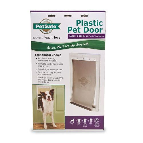 Petsafe pet door large white premium plastic