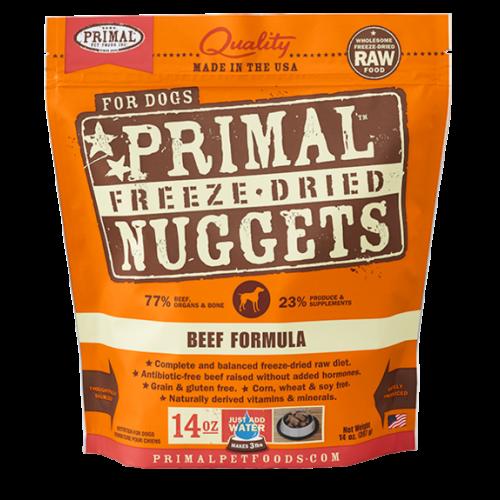 Primal freeze dried beef 14oz dog treat