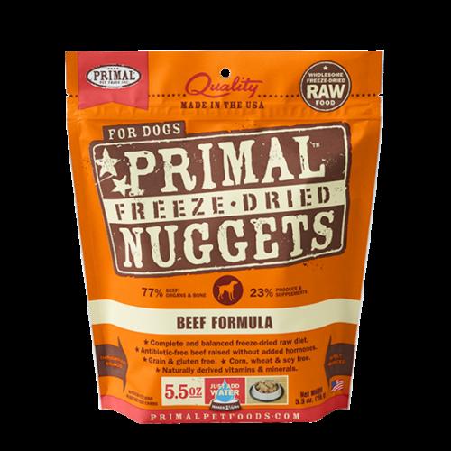 Primal freeze dried beef 5.5oz dog treat