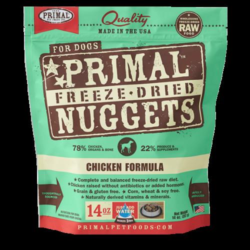 Primal freeze dried chicken 14oz dog treat