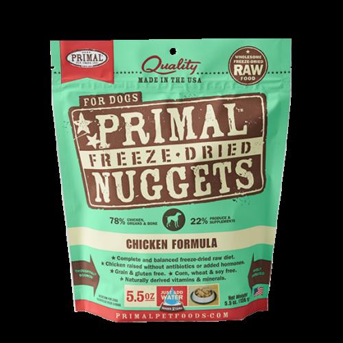 Primal freeze dried chicken 5.5oz dog treat