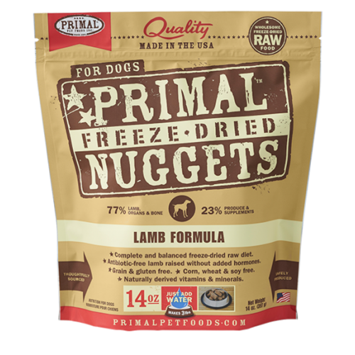 Primal freeze dried lamb 14oz dog treat