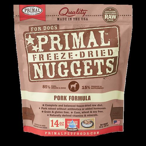 Primal freeze dried pork 14oz dog treat