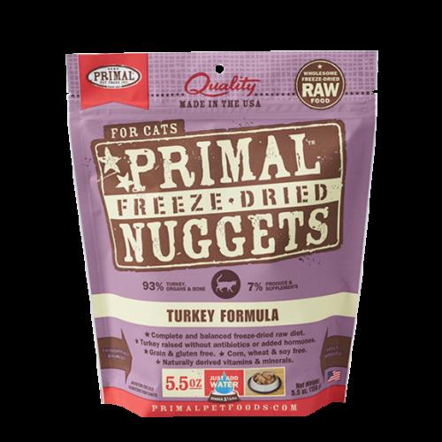 Primal cat freeze dried turkey 5.5oz cat treat