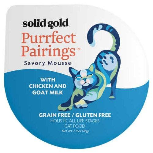 Solid Gold purrfect pairing 2.75oz chicken goat milk cat food