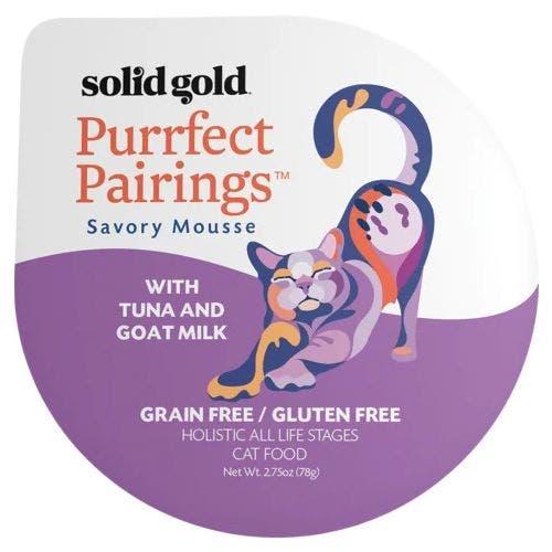 Solid Gold purrfect pairing 2.75oz tuna goat milk cat food