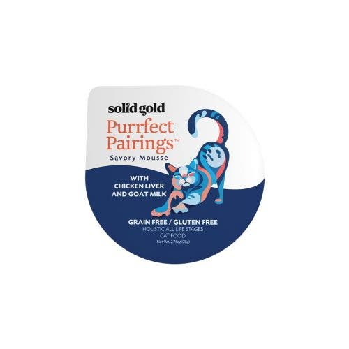 Solid Gold purrfect pairing 2.75oz chicken liver cat food