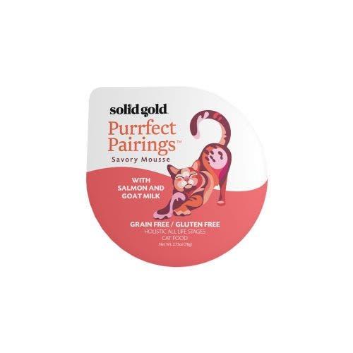 Solid Gold purrfect pairing 2.75oz salmon goat milk cat food